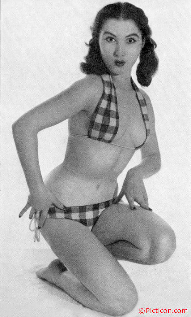 You gotta love the pursed lips of this Harrison Marks bikini pinup gal from ...